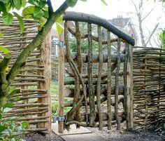 Wattle fence - woven wood like willow makes great eco friendly fence