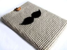 Mustache Laptop Macbook Pro/Air Sleeve 13 inch by dudush on Etsy, $28.00