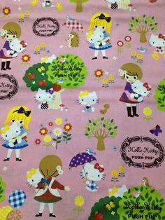 Hello kitty x Push pin cotton fabric One yard