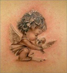 sleeping baby angel tattoos  Google Search