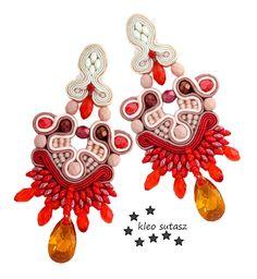 Sutasz Kleo / Kleo Soutache Soutache Necklace, Tassel Earrings, Boho Jewelry, Jewlery, Diy Accessories, Beaded Embroidery, Brooch, Beads, Soutache Jewelry
