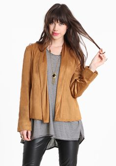 Walk The Trails Faux Suede Jacket 48.00 at threadsence.com