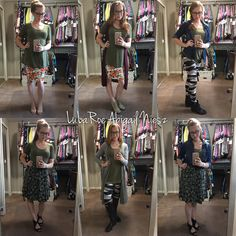LuLaRoe Perfect Tee Styling Session. Perfect tees and #alltheskirts are a perfect (ha!) match. Cassie loves Perfect and Madison plays so nice too!