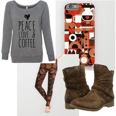 Morning Coffee by lbrunkho on Polyvore featuring polyvore fashion style Teva