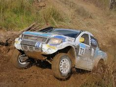 Ford in tough Toyota Dealer Mooi River, KwaZulu-Natal. Stand-in Ford Racing driver Manfred Schroder and veteran navigator Japie Badenhorst kept the momentum going and were never seriously challenged. Ford Motorsport, Toyota Dealers, Kwazulu Natal, 2 In, Monster Trucks, Racing, River, Vehicles, Auto Racing