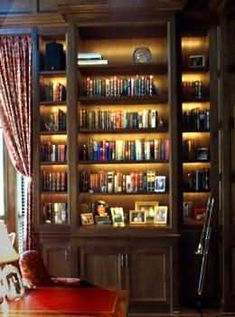 Awesome Bookshelf With Recessed Lighting Tad Castellow Built For Me My Crib Pinterest