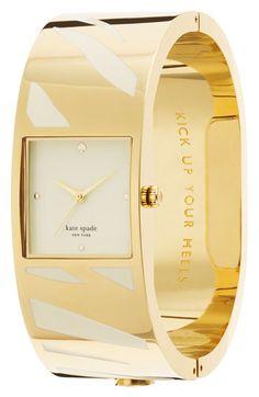 kate spade new york Delacorte Bangle Zebra Watch, Jewelry & Accessories - Bloomingdale's Cool Watches, Watches For Men, Kate Spade Watch, Jewelry Accessories, Fashion Accessories, Jewelery, Jewelry Box, Bracelet Watch, Bangles