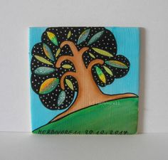 FUNKELBÄUMCHEN Nr. 3 Herbivore11 Inchie Baum Bäume Minibild kleine Kunst sammeln