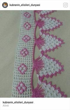 This post was discovered by HU Crochet Edging Patterns, Crochet Lace Edging, Crochet Borders, Doily Patterns, Crochet Squares, Filet Crochet, Crochet Designs, Crochet Doilies, Crochet Flowers