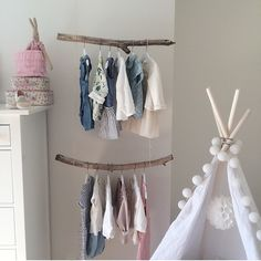 brillant idea branches as clothes hangers..