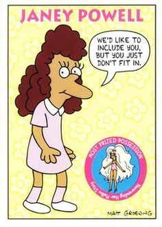1993 SkyBox The Simpsons #S14 Janey Powell | Trading Card Database Simpsons Drawings, Tv Funny, Dysfunctional Family, Collector Cards, Comedy Tv, Trading Card Database, Futurama, Cool Wallpaper, Trivia