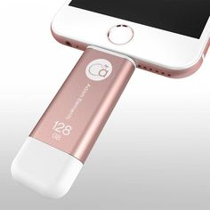 Rose Gold iKlips, iPhone flash drive! Apple Lighting USB