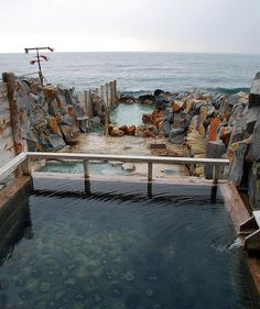 sakino-yu, shirahama - Onsen on the beach, Japan. Must remember this for next trip (and organise a babysitter!)