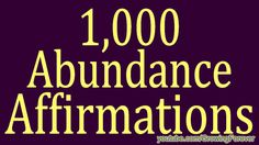 1,000 ★POWERFUL★  Abundance Affirmations & Images - Wealth Money     Prosperi...    . . . . . Watch this video to learn how to earn CrowdFunded Cashback with your eVantage Prepaid MasterCard   http://www.eVantageCard.com/SnackUrban