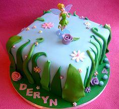 Tinkerbell themed birthday cake | Flickr - Photo Sharing!