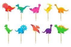 Topper Cupcake Dinossauro