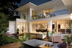 like the clean lines, tons of windows, outdoor spaces up and down...