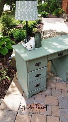 Painted Maple Desk Painted Furniture, Chalk Paint