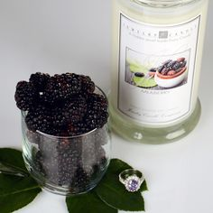 This is Jewelry Candles new Mulberry candle! It's the classic mulberry scent enhanced by cinnamon sticks, wild berries and bitter orange peels. A strong but not overwhelming scent that is sure to make your whole home smell like fresh mulberries =)