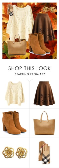 """""""cute"""" by anisabici on Polyvore featuring Chicwish, Laurence Dacade, Victoria Beckham, Burberry, women's clothing, women, female, woman, misses and juniors"""