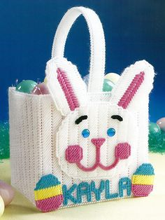 Free plastic canvas pattern tiny easter baskets 13 plastic atisket a tasket an easter basket easter bunny basket plastic canvas pattern negle Gallery