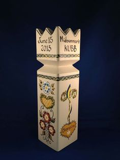 """Midsummer Kubb"" What a stellar and beautiful trophy for a tourney!! #kubb"