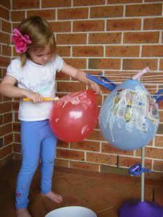 What do you do all day?: Paper Mache Hot Air Balloons