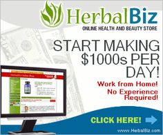 Make Money Online at HerbalBiz, sell all natural health products.