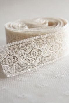 "myviewfromsomewhere: "" (via Pin by Thoma Lou Maddy on My Style Pinboard Antique Lace, Vintage Lace, Vintage Sewing, Lace Ribbon, Ribbon Work, Shabby, Little Mercerie, Nottingham Lace, Passementerie"