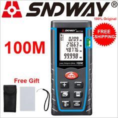(Navio de RU) Roleta SNDWAY Telêmetro Laser 40 M ~ 100 M Metros de Distância A Laser Medidor de Distância A Laser régua De Medição da Fita