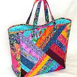 Quilted Strings Patchwork Tote by AllThatPatchwork