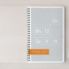 Periodic Table Day Planner, Notebook, Or Address B... | Minted