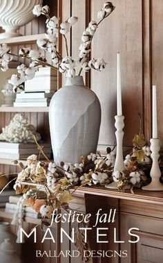 How to Style Your Fall Mantel Decor!
