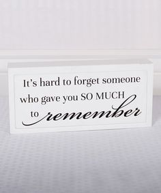 Look what I found on #zulily! White & Black 'So Much to Remember' Wall Sign #zulilyfinds