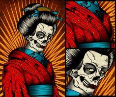 Photographe concert, Artwork, portrait et musique - Eric CANTO Japanese Horror, Pale Horse, Horse Illustration, Skull Art, Concert, Dark Art, Illustrations Posters, Scary, Horses