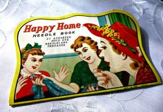 40s Sewing Ephemera Vintage Homemaker Happy Home Needle Book Needles Thread Card 40s Home Crafting Sewing Supplies Notions Collectible Japan