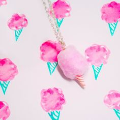 Cotton Candy Necklace by FatallyFeminine https://www.etsy.com/listing/62502514/carnival-cotton-candy-necklace-pink-blue