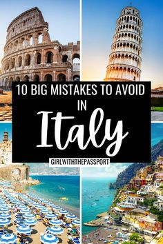 Mistakes To Avoid In Italy | Planning A Trip To Italy | Top tips for Italy Travel | bucket list locations for Italy | prettiest places in Italy | Best please to visit in italy | cutest locations in Italy | whimsical locations in Italy | where to stay in Italy | how to visit Italy | cutest places to see in Italy | where to stay in Italy | things to avoid in Italy | Italy itinerary tips | Best things to do in Italy | What to know when planning a trip to Italy #Italy #ItalyTravel #EuropeTravel Italy Travel Tips, Europe Travel Guide, Rome Travel, Best Places In Italy, Things To Do In Italy, Italy Honeymoon, Italy Vacation, Italy Destinations, Italy Italy