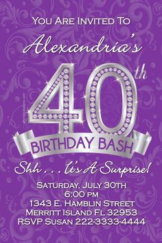 Pin by michelle howard on family birthday celebration pinterest birthday invitation 40th birthday invitations free invitation for you free invitation for you filmwisefo Images