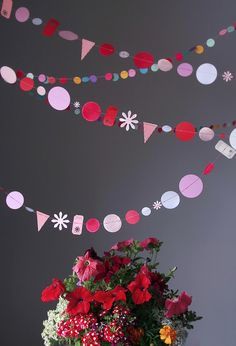 debee{art) on Flickr. **put a string of garland (birthday, Valentine's, etc) in a greeting card**