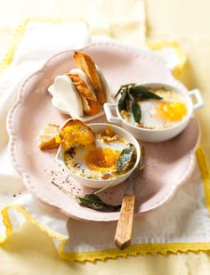 Baked duck eggs