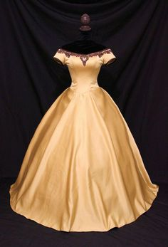 Once Upon A Time Belle Inspired Golden Gown by AddictedToMagic, $475.00 on Etsy.com | Beautiful gown.   I can make that! || Costuming  Cosplay