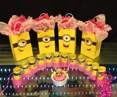 All DIY girl minion birthday party stuff Minion Party Theme, 2nd Birthday Party Themes, Second Birthday Ideas, Minion Birthday, First Birthday Parties, 3rd Birthday, Pink Minion, Party Time, Diys