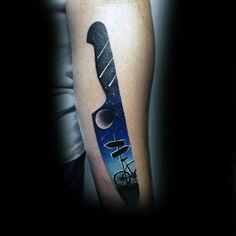 Night Sky Chef cuchillo para hombre del brazo tatuajes