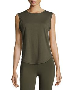 Shop designer clothing and shoes at Neiman Marcus Last Call. Choose from a large selection of designer apparel, accessories, and beauty products. Gym Essentials, Workout Tank Tops, Last Call, Clearance Sale, Neiman Marcus, Basic Tank Top, Crew Neck, Army, Pullover