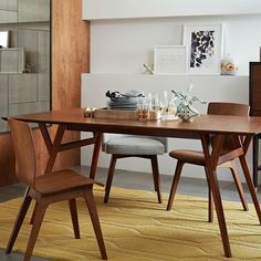"""Mid-Century Expandable Dining Table 