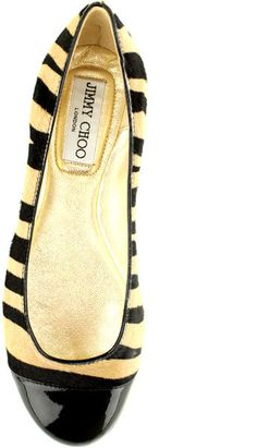 JIMMY CHOO LONDON Zebra Whirl Flat....and of course they're jimmy choo's :( so expensive