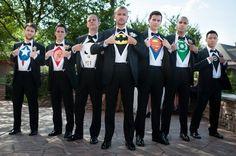 Super heroes groomsmen, pretty dope!