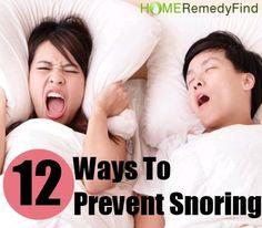12 Ways To Prevent Snoring