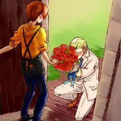 "Germany : "" Marry-me Italia !!!!! "" Italia : "" Shock !! "" Me:*flails, nosebleed* ehhhhhh !"